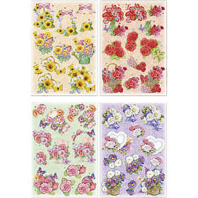 Image of 3D Decoupage Motifs, sheet 21x30 cm, Motifs, 4sheets