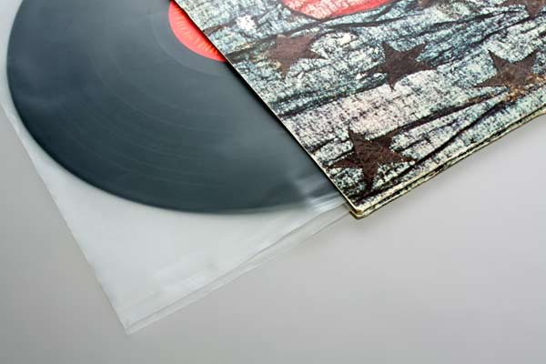 "Image of 12"" inner Record Sleeves with Cut Corners 30.6x30.5 cm"